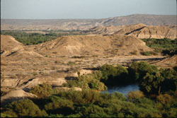 The modern Hadar landscape. Image courtesy of the Institute of Human Origins at Arizona State University.