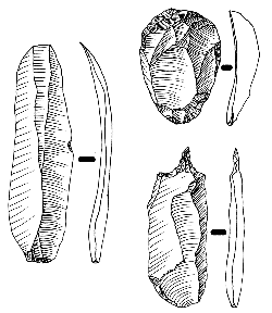 Here are some sketches of tools from the Upper Paleolithic. Image by José-Manuel Benito.