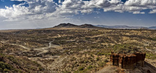 The Olduvai Gorge Lansdcape. Click for more detail.