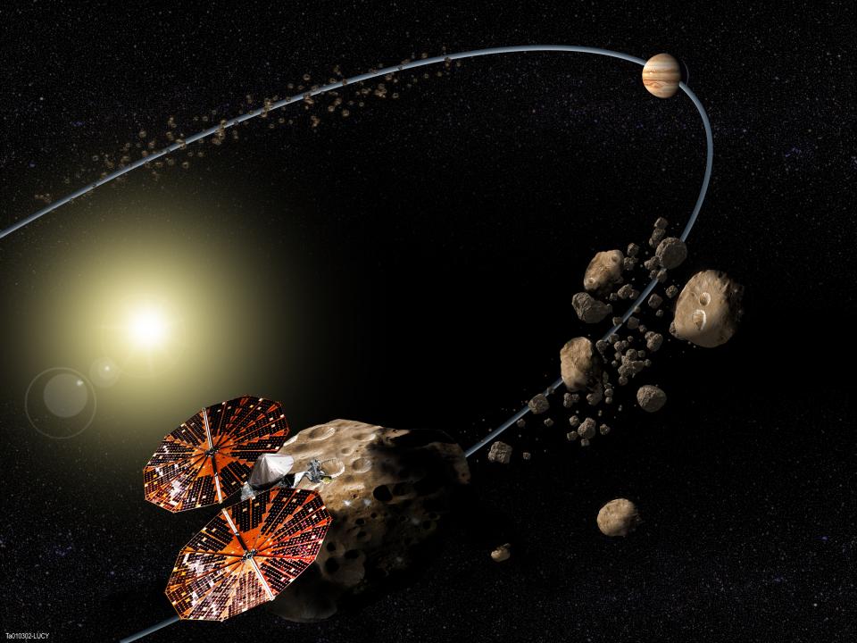 asteroid belt image